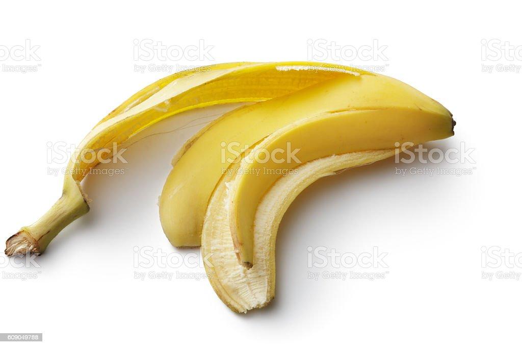 Fruit: Banana Peel Isolated on White Background – Foto