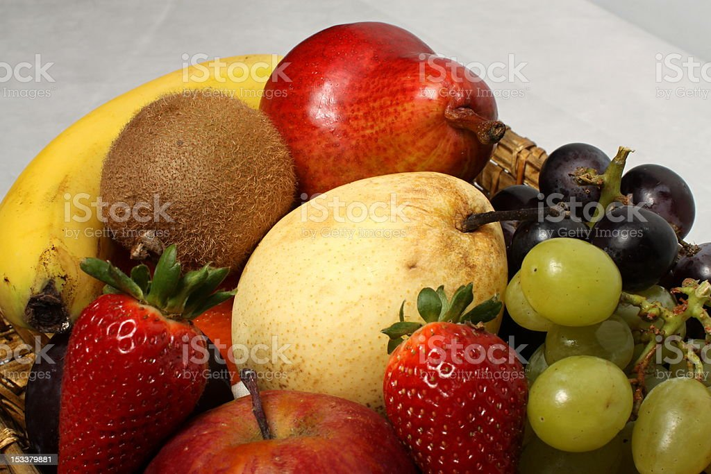 Fruit basket detail royalty-free stock photo