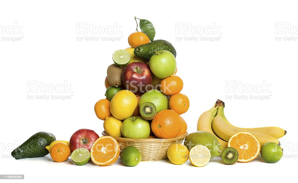 Fruit basket royalty-free stock photo
