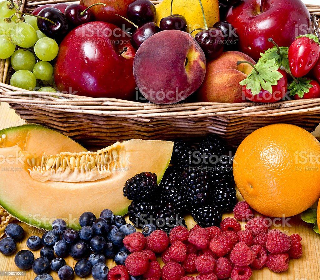 Fruit basket royalty-free stock photo