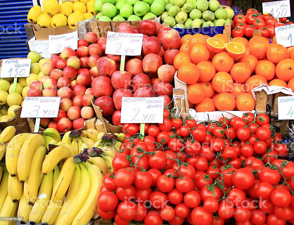 Fruit bazaar royalty-free stock photo