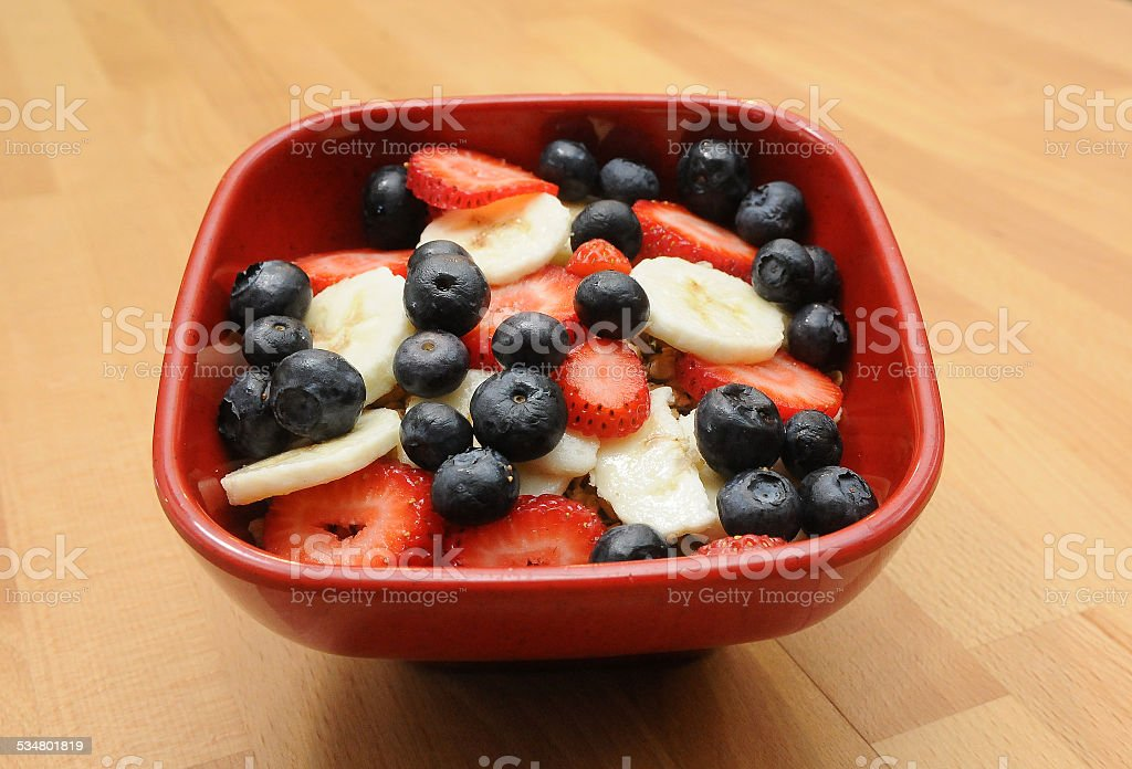 Fruit Bowl Beginning stock photo