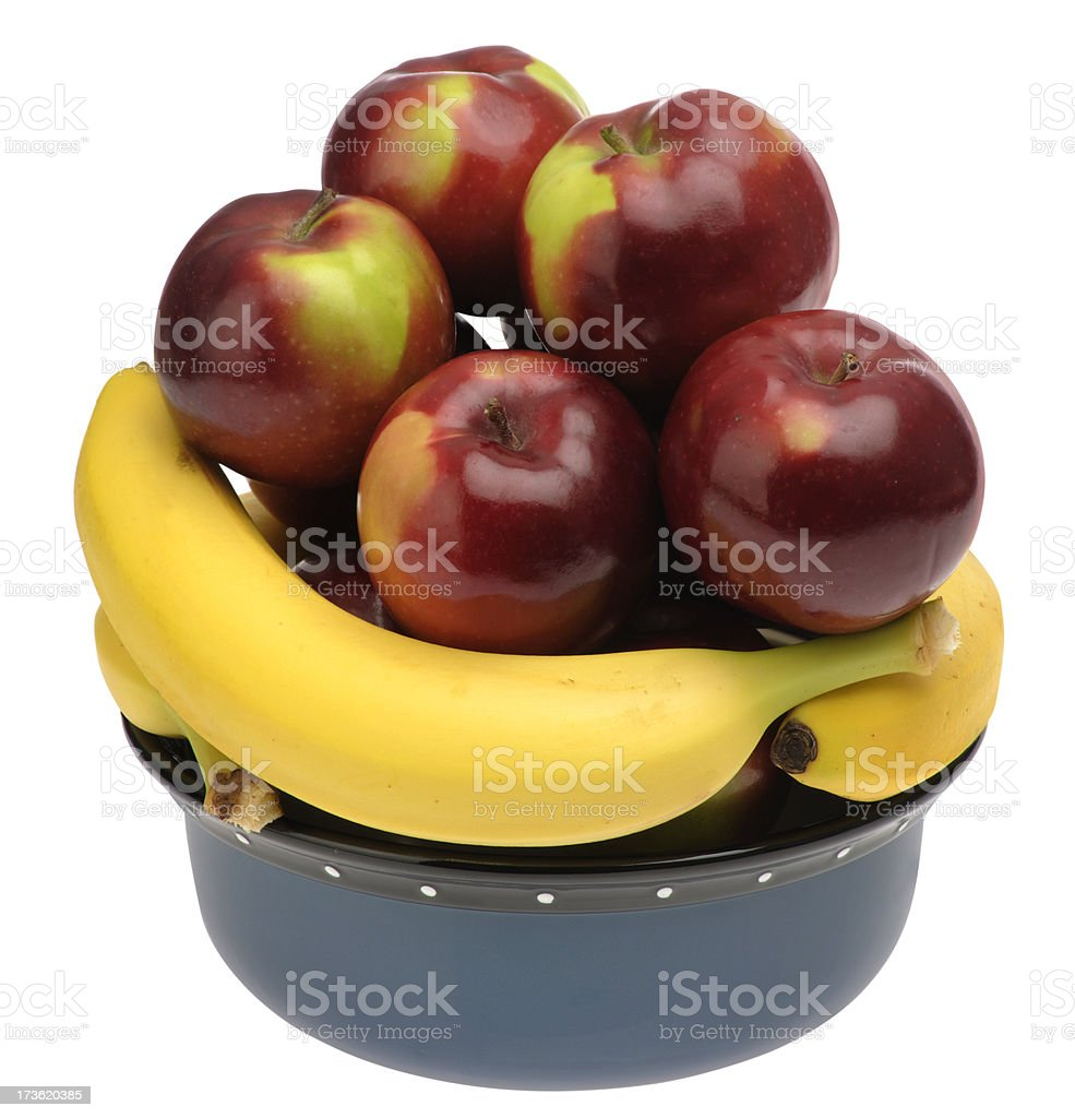 Fruit Bowl With Clipping Path royalty-free stock photo