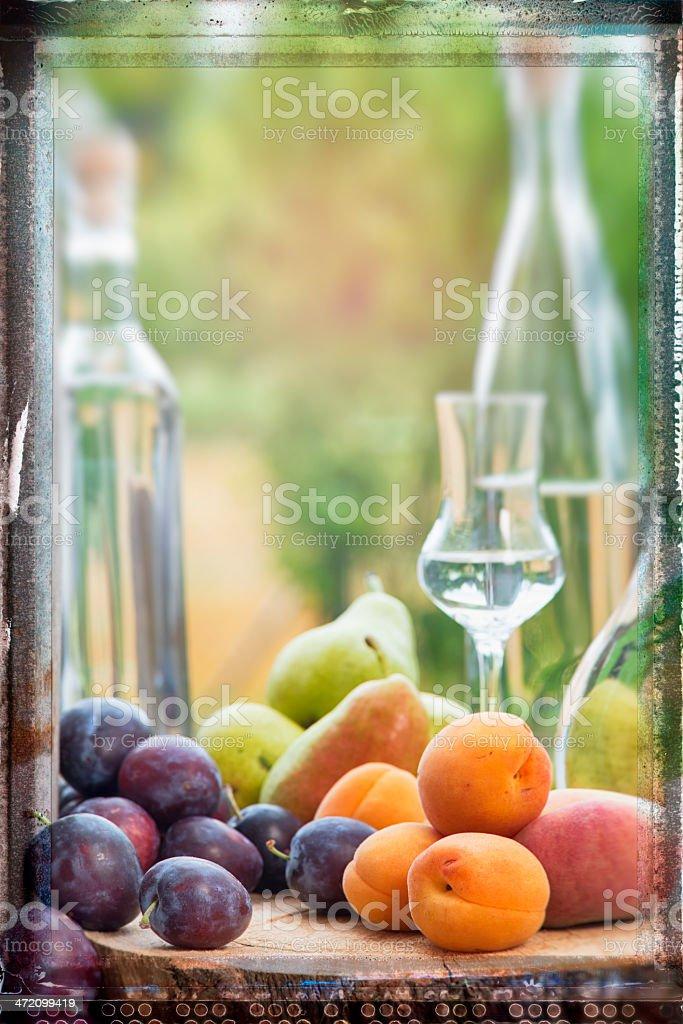 Fruit Brandies stock photo