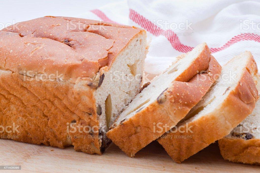 fruit bread stock photo