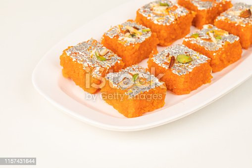 Indian famous Sweet food Fruits Burfi