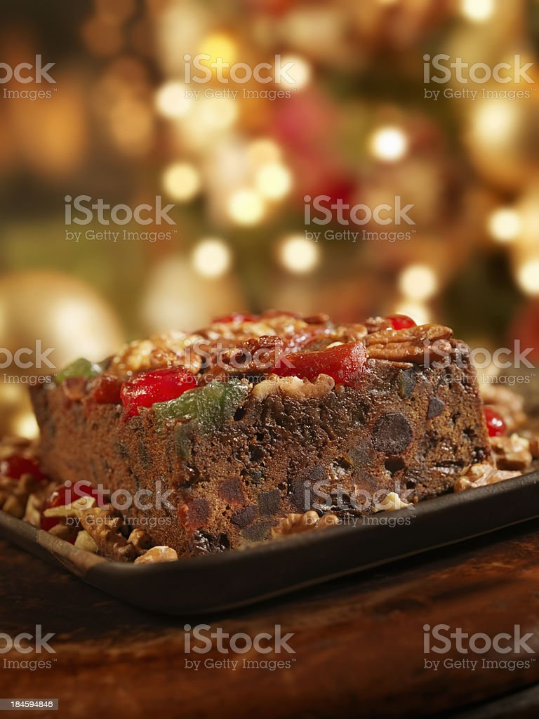Fruit Cake at Christmas royalty-free stock photo