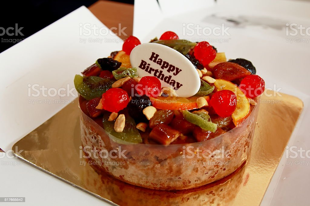 Fruit Cake For Your Happy Birthday Royalty Free Stock Photo