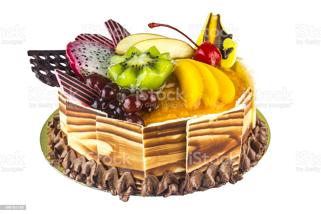 Fruit Cake Happy Birthday Royalty Free Stock Photo