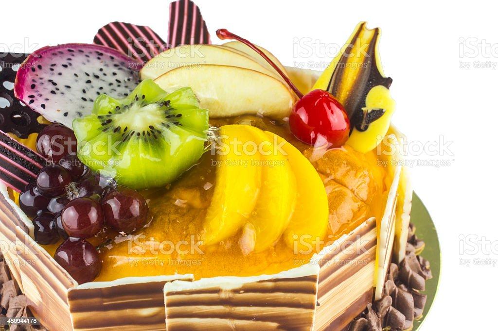 Fruit Cake Happy Birthday Stock Photo More Pictures of 2015 iStock