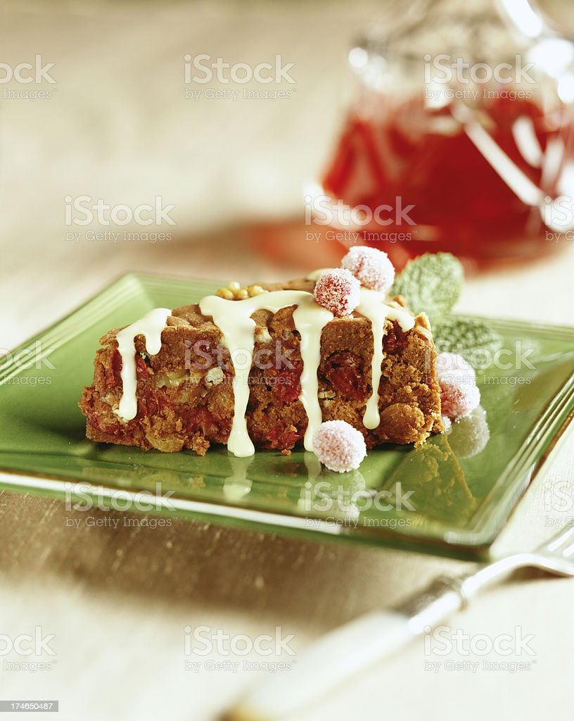 Fruit Cake single serving royalty-free stock photo
