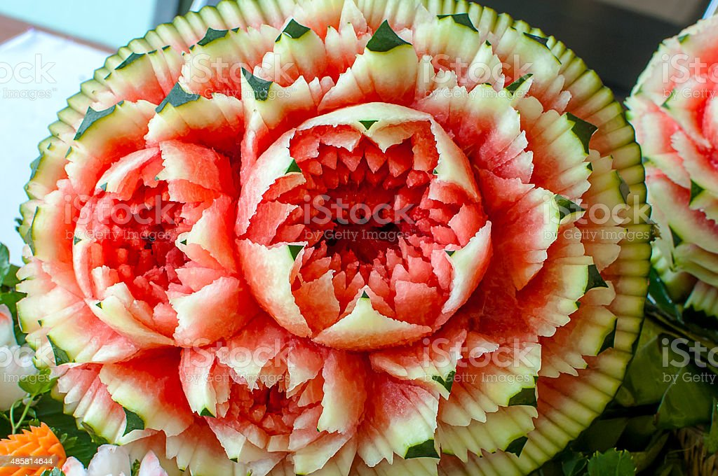 Fruit Carving stock photo
