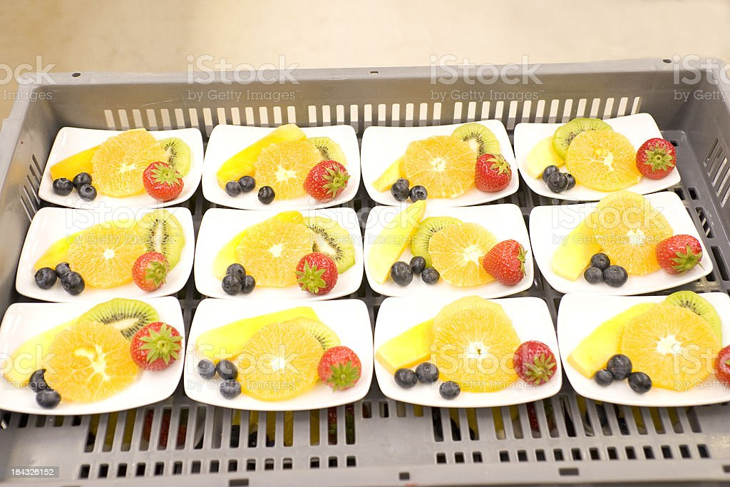 Fruit Catering for Airline royalty-free stock photo