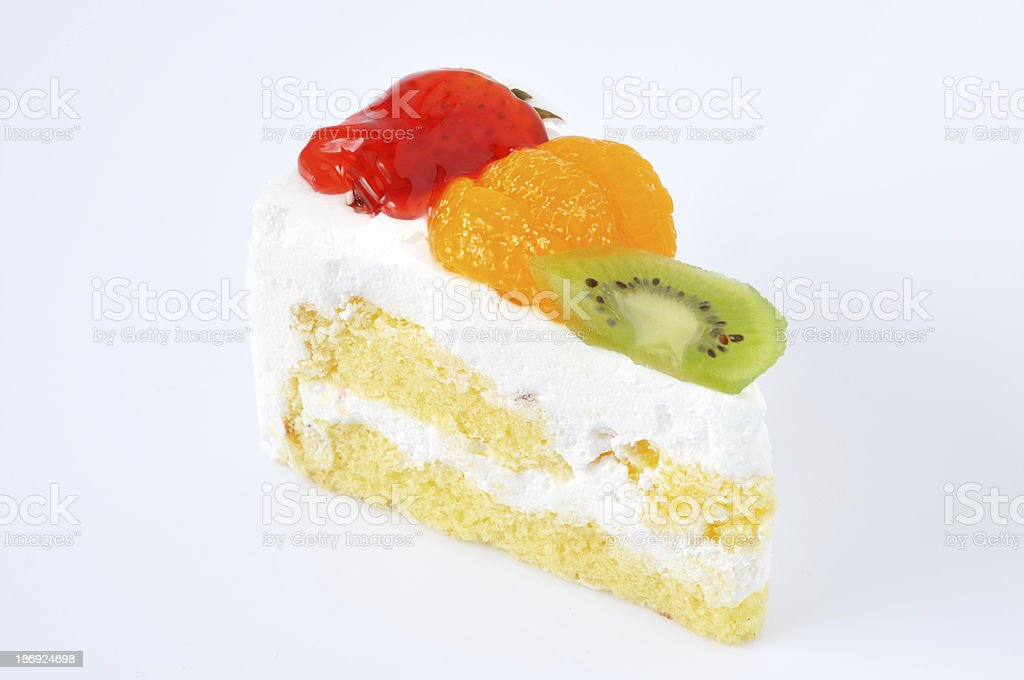 Fruit cheesecake royalty-free stock photo