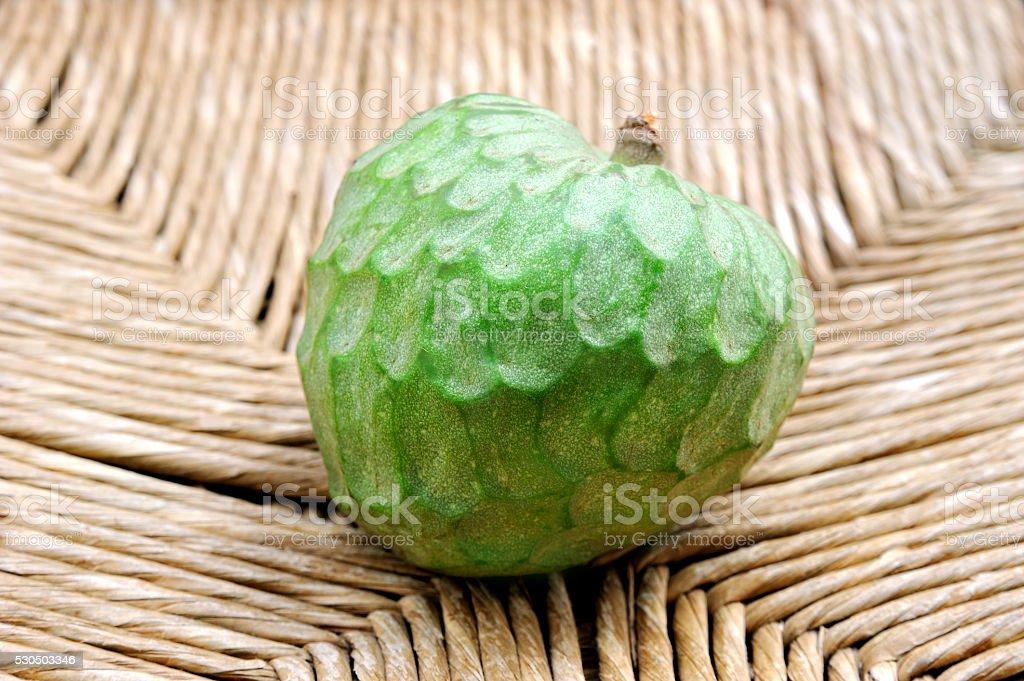 fruit cherimoya on natural  background stock photo