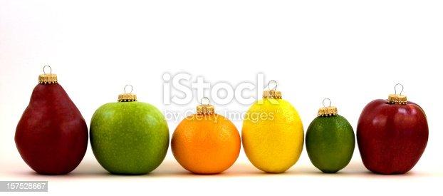 Fresh Slice Orange isolated on white background.