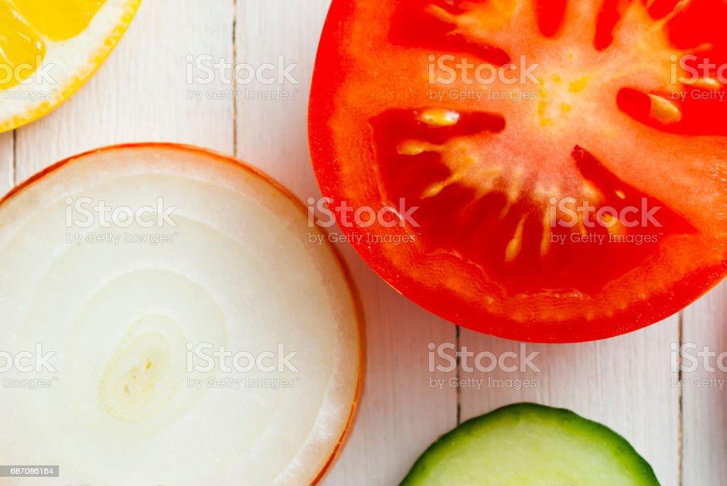 Fruit circles, top view Lizenzfreies stock-foto