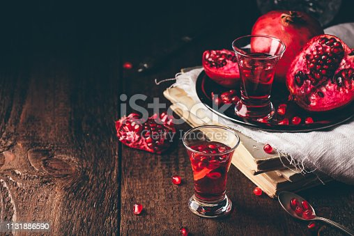 Fruit cocktail with pomegranate
