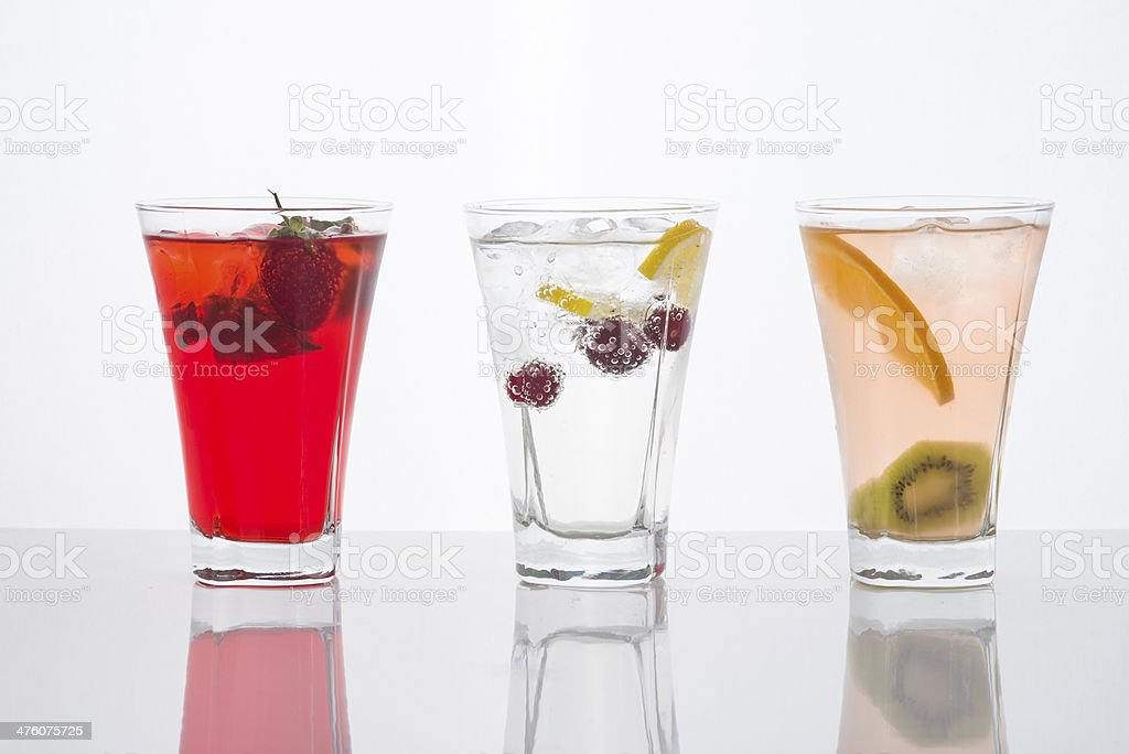 Fruit Cocktails in a Row royalty-free stock photo