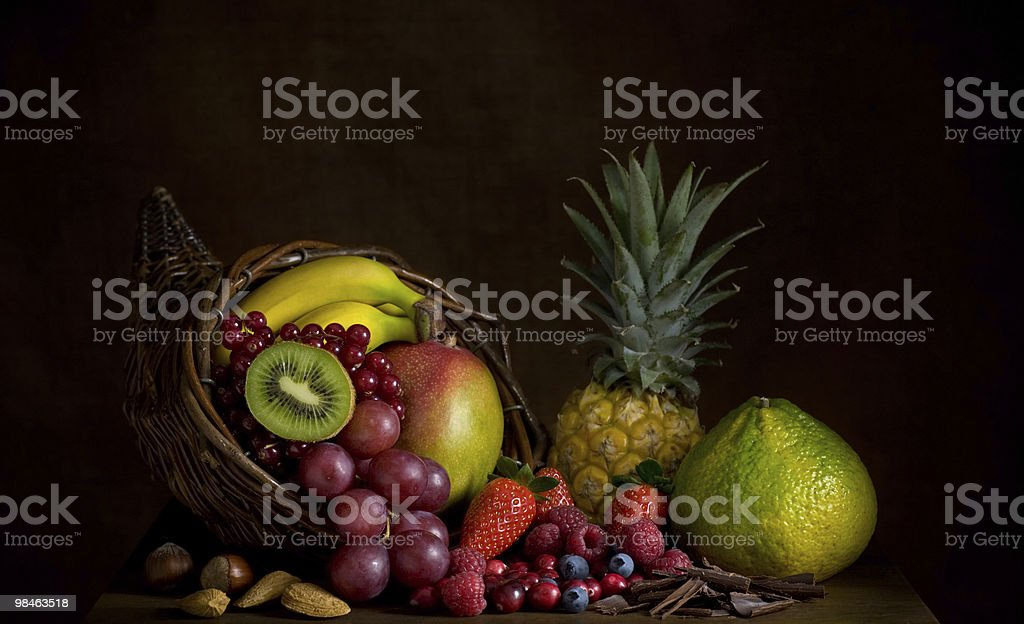 Fruit Cornucopia royalty-free stock photo