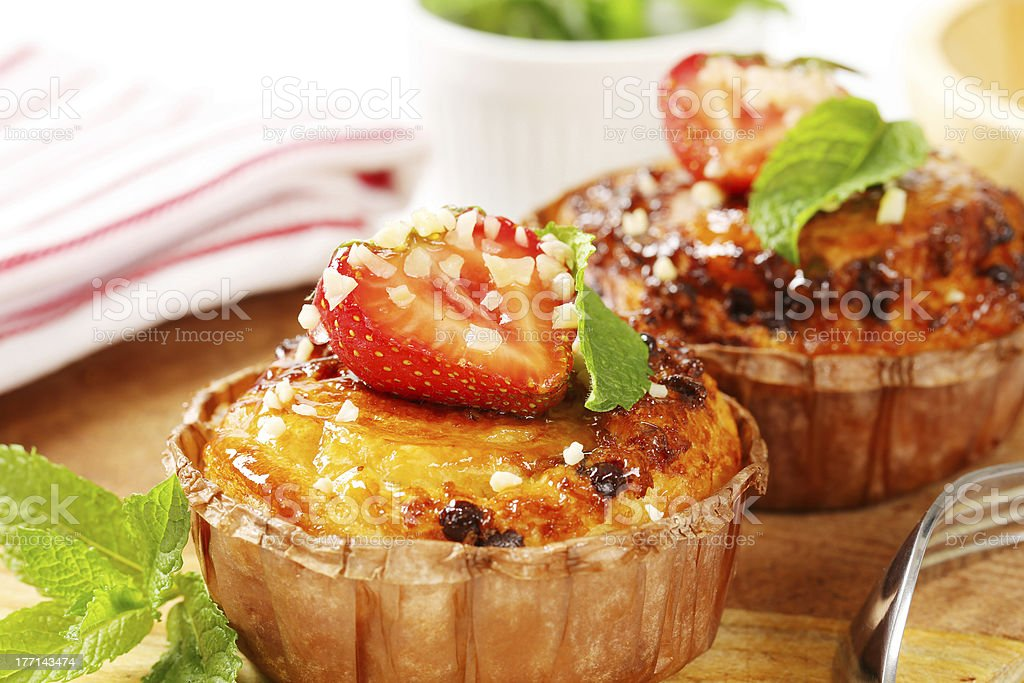fruit cupcakes royalty-free stock photo
