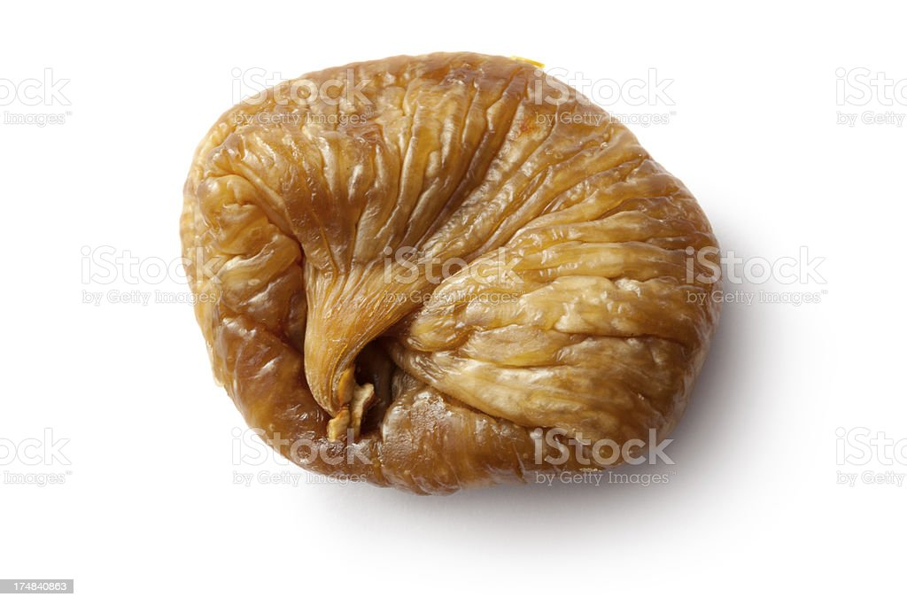 Fruit: Dried Fig Isolated on White Background royalty-free stock photo