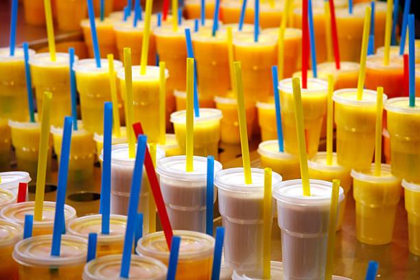 Fruit drinks stock photo