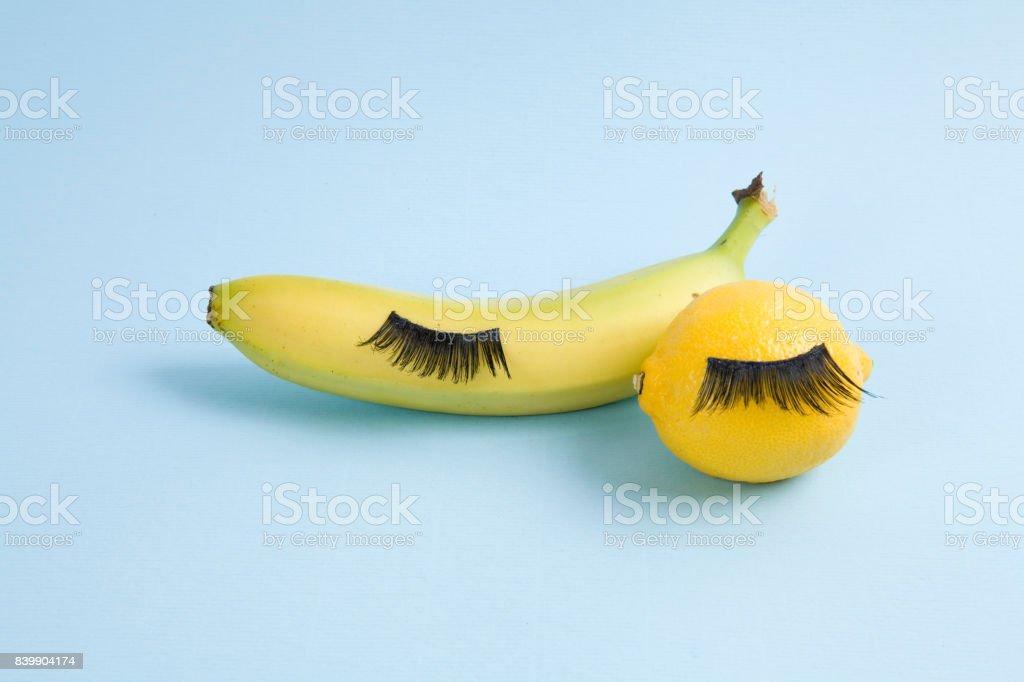 fruit eyelashes stock photo