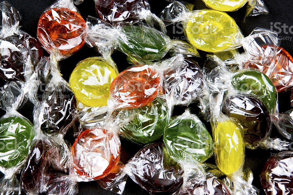 Fruit flavoured sweets royalty-free stock photo