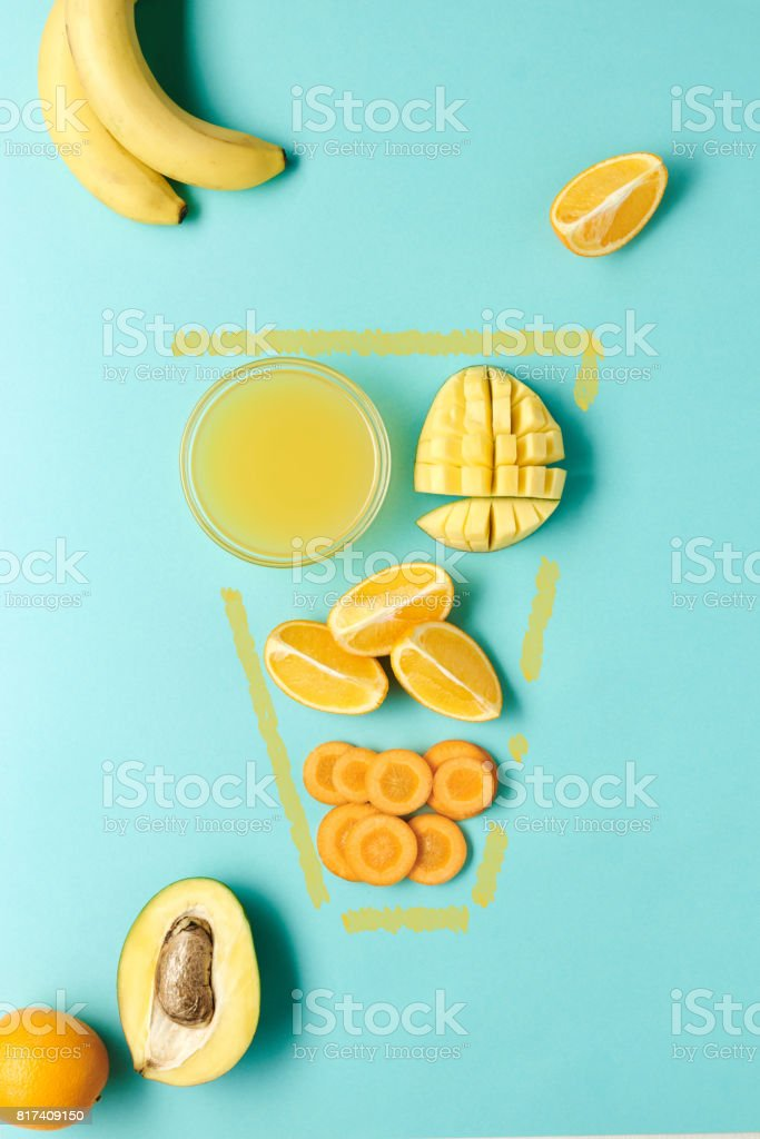 Fruit for delicious smoothies stock photo