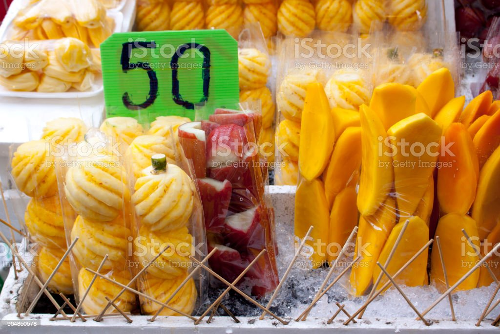 Fruit for sale in Bangkok royalty-free stock photo