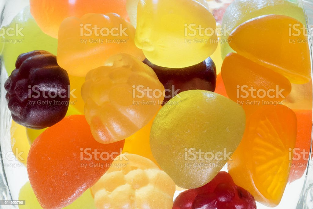 Fruit gummi candies stock photo