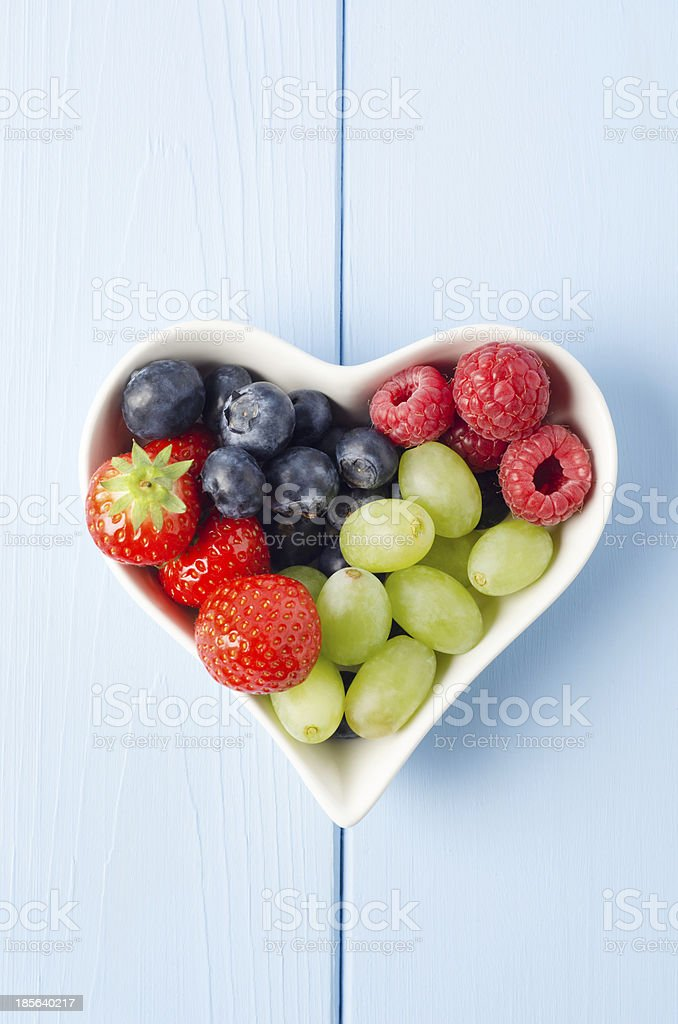 Fruit Heart From Above royalty-free stock photo