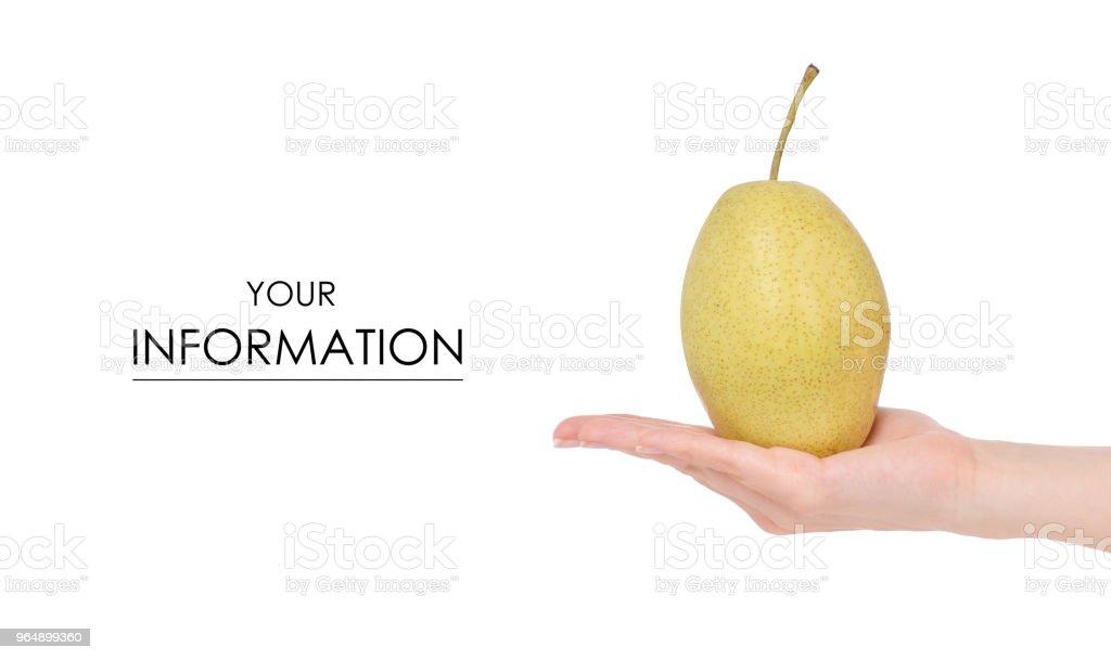 水果雜交蘋果梨手型 - 免版稅人圖庫照片
