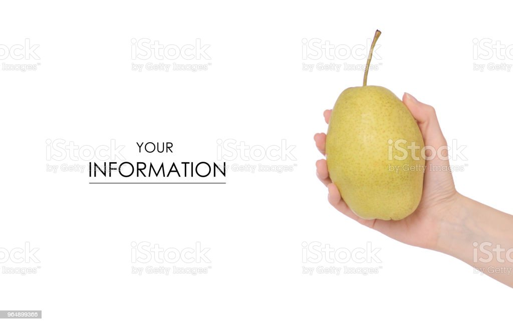Fruit hybrid apple pear in hand pattern royalty-free stock photo