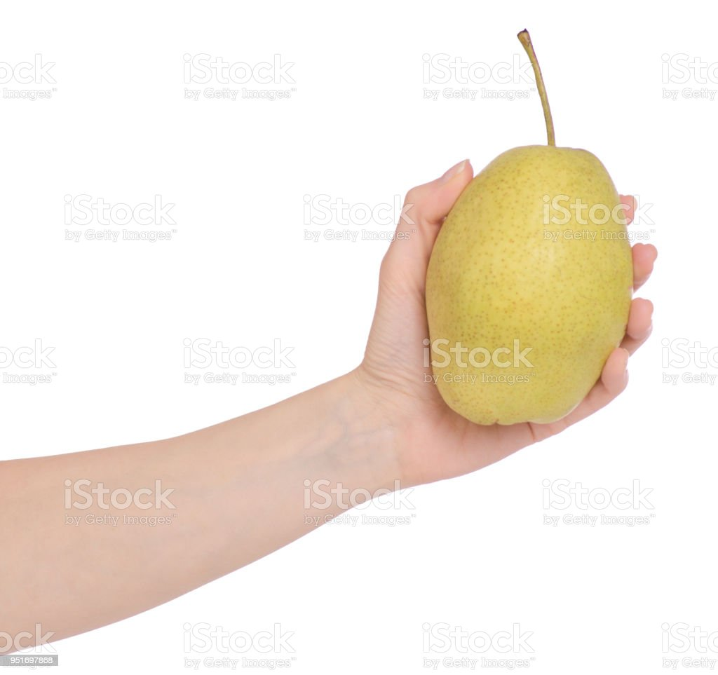 Fruit Hybrid Apple Pear In Hand Stock Photo Download Image Now