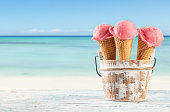 istock Fruit ice cream on beach 498447371