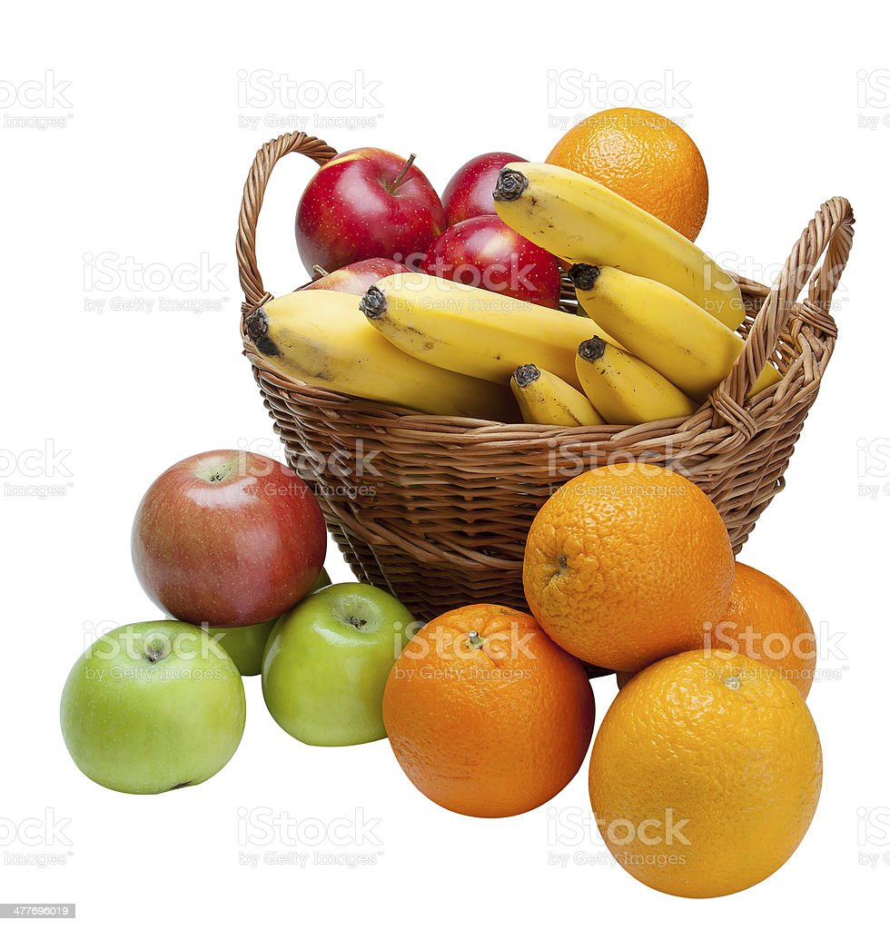 Fruit in a basket. royalty-free stock photo