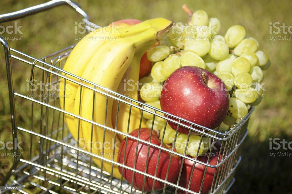 Fruit in a Mini Cart stock photo
