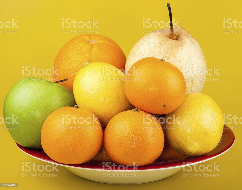 Fruit in a plate. royalty-free stock photo