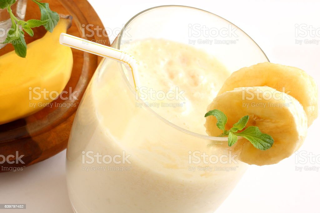 Fruit Juice and Banana stock photo