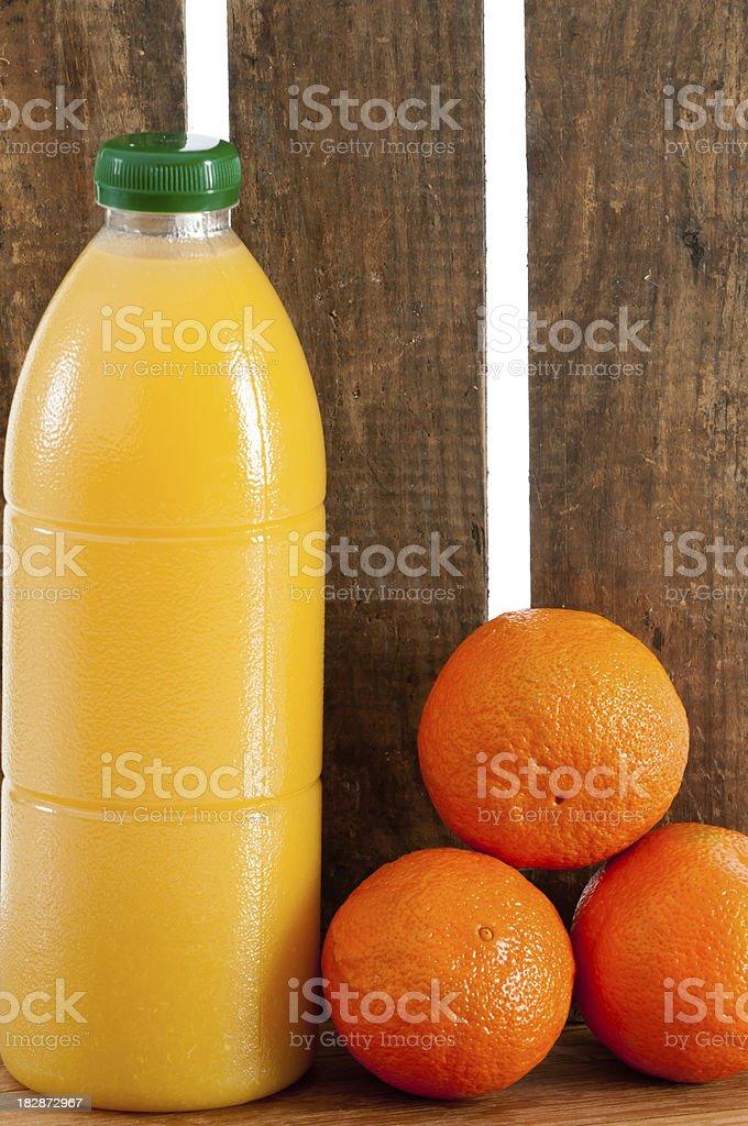 Fruit juice and oranges. royalty-free stock photo