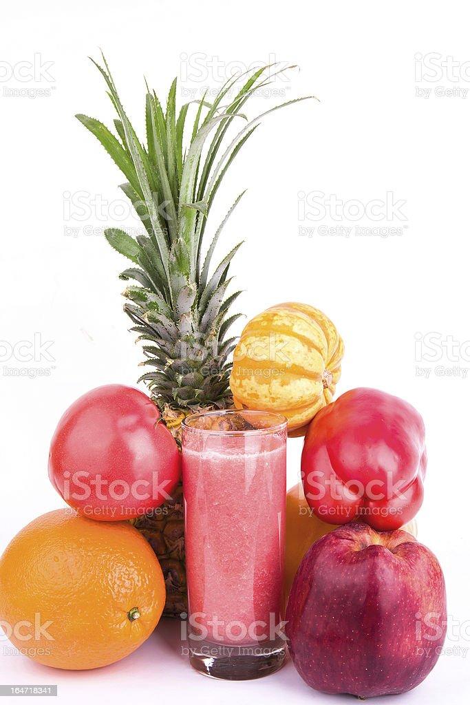 fruit juice isolated on white background royalty-free stock photo
