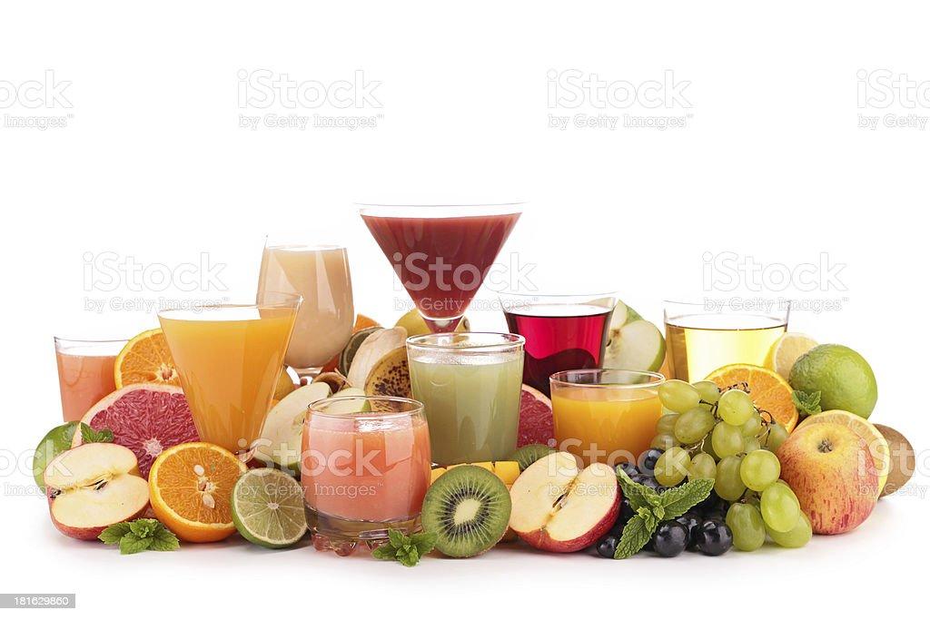 fruit juice isolated royalty-free stock photo