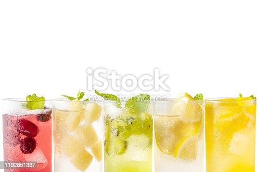 Beverage image with fruit motif