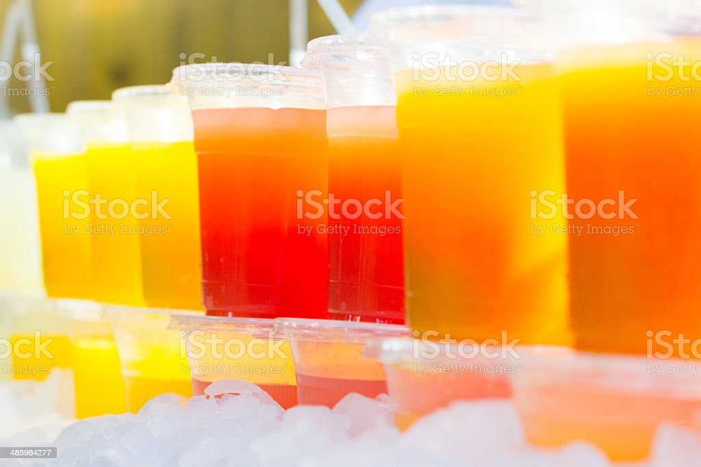 Fruit Juices in Borough Market, London royalty-free stock photo