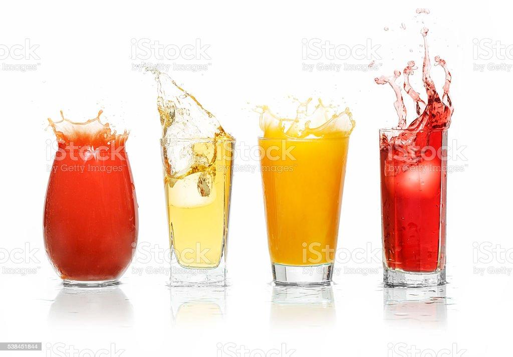 Fruit juices splash stock photo