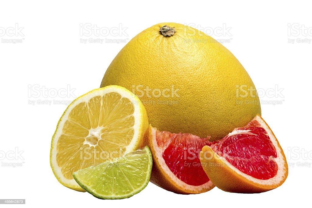 Fruit, lemon, lime, grapefruit stock photo
