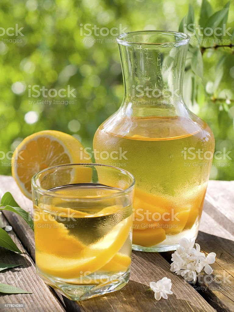 Fruit lemonade or Sangria royalty-free stock photo