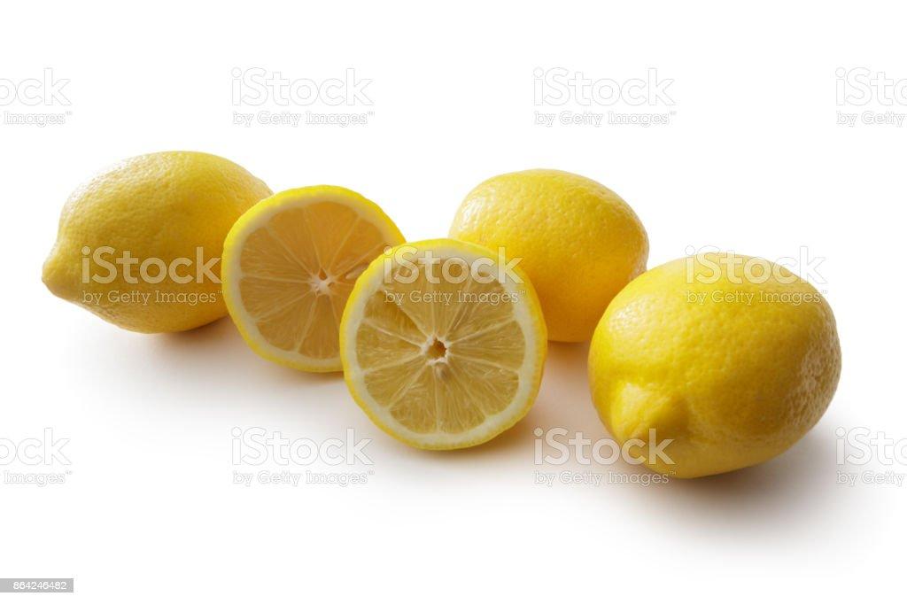 Fruit: Lemons Isolated on White Background royalty-free stock photo